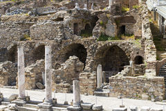The ruins of the ancient antique city of Ephesus Royalty Free Stock Images