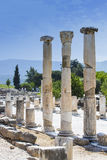The ruins of the ancient antique city of Ephesus Royalty Free Stock Photography