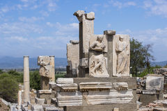 The ruins of the ancient antique city of Ephesus Stock Image