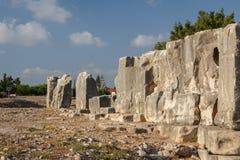 Ruins of the ancient Aphrodite sanctuary in Kouklia. Near Pathos, Cyprus Stock Photos