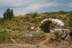Ruins of the ancient Apollonia town Stock Photo