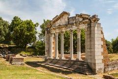 Ruins of the ancient Apollonia town Stock Photos