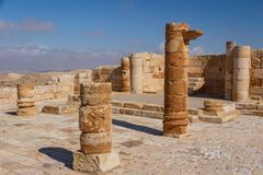 Ruins of the ancient Avdat settlement, Negev Stock Images