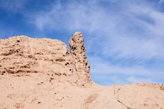 Ruins of ancient Ayaz-Kala Fortress stock image