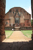 Ruins of Ancient Ayutthaya Stock Photography