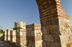 Ruins of the ancient Basilica of the Holy Mother of God Eleusa Stock Images