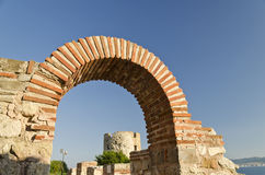 Ruins of the ancient Basilica of the Holy Mother of God Eleusa Stock Image