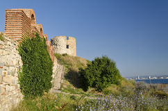 Ruins of the ancient Basilica of the Holy Mother of God Eleusa Royalty Free Stock Images