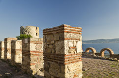 Ruins of the ancient Basilica of the Holy Mother of God Eleusa Royalty Free Stock Image