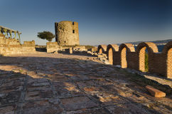 Ruins of the ancient Basilica of the Holy Mother of God Eleusa Royalty Free Stock Photography