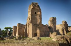 Ruins of ancient Baths in Rome. stock photography