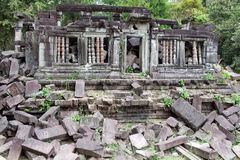 Ruins of ancient Beng Mealea Temple in Cambodia Royalty Free Stock Photography