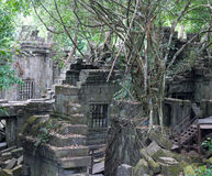 Ruins of ancient Beng Mealea Temple over jungle in Cambodia Stock Photography