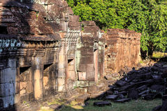 Ruins of ancient buddhist khmer temple. Near Siem Reap, Cambodia Royalty Free Stock Images