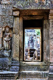 Ruins of ancient buddhist khmer temple Royalty Free Stock Image