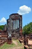 Ruins of ancient Buddhist temple Royalty Free Stock Photo
