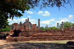 Ruins of ancient Buddhist temple Royalty Free Stock Images