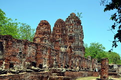 Ruins of ancient Buddhist temple Stock Images