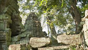 Ruins of ancient Buddhist temples of the 12th century. Cambodia, Angkor stock video footage
