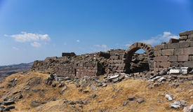 Ruins of ancient building of Pergamon (Bergama, Turkey) Stock Image