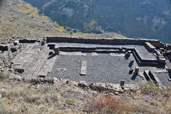 Ruins of ancient buildings in the national park Gamla Stock Photos