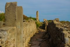 Ruins of ancient buildings royalty free stock photos