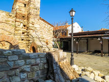Ruins of ancient bulgarian Church in the Old Nessebar, Bulgaria Royalty Free Stock Images
