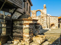 Ruins of ancient bulgarian Church in the Old Nessebar, Bulgaria Stock Photos