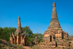 Ruins of ancient Burmese Buddhist pagodas Stock Photography