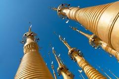 Ruins of ancient Burmese Buddhist pagodas Stock Image
