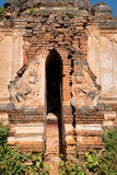 Ruins of ancient Burmese Buddhist pagodas Stock Photo