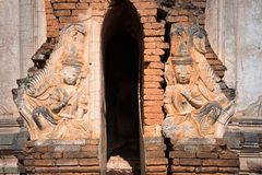 Ruins of ancient Burmese Buddhist pagodas Royalty Free Stock Photo