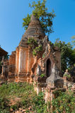 Ruins of ancient Burmese Buddhist pagodas Royalty Free Stock Image