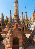 Ruins of ancient Burmese Buddhist pagodas Royalty Free Stock Images