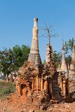 Ruins of ancient Burmese Buddhist pagodas Stock Photos