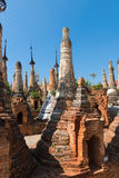 Ruins of ancient Burmese Buddhist pagodas Royalty Free Stock Photos