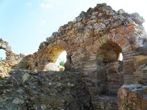 Ruins of ancient and Byzantine buildings in Side Royalty Free Stock Photography