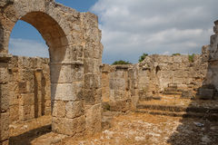 Ruins of the ancient Byzantine city of Afendrika Stock Images