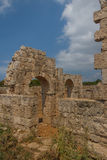 Ruins of the ancient Byzantine city of Afendrika Royalty Free Stock Image