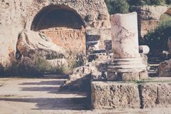 Ruins of the ancient Carthage city, Tunis, Tunisia, North Africa royalty free stock photography