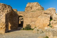 Ruins of the ancient Carthage city, Tunis, Tunisia, North Africa stock images