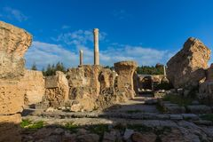 Ruins of the ancient Carthage city, Tunis, Tunisia, North Africa stock photography