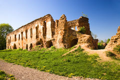 Ruins of the ancient castle Stock Images