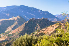 Ruins of ancient castle in Calabria Royalty Free Stock Photos
