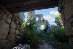 Ruins of ancient castle Stock Images
