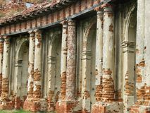 The ruins of an ancient castle. Columns on the ruins of an ancient castle Stock Photography