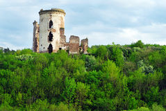 Ruins of ancient castle or fortress, Ukraine Royalty Free Stock Photography