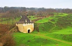 Ruins of the ancient castle, Khotyn Fortress. Ukraine Royalty Free Stock Photo