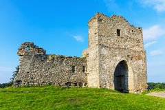 Ruins of ancient castle in Kremenets, Ukraine Stock Image