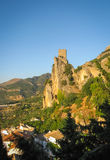Ruins of an ancient castle at sunset, La Iruela, Andalusia, Spai Royalty Free Stock Image